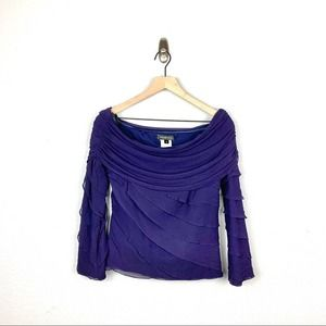 Tadashi Shoji Off-the-Shoulder Top Purple Size 8